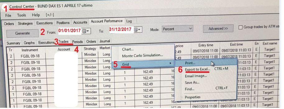 Come consegnarci i dati del conto trading 3