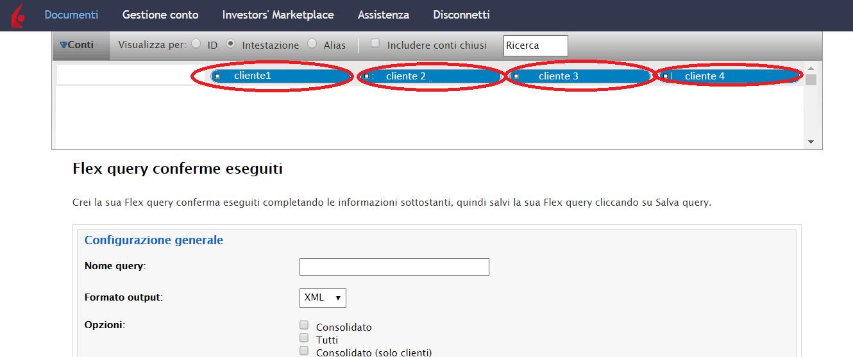 Esportazione dati Interactive Brokers per i propri clienti 1
